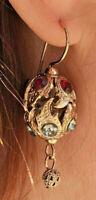 Orecchini pendenti stile antichi della nonna dichiarazione gioielli italiani oro