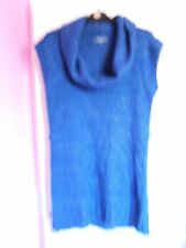 Ladies blue knitted top/dress size 12