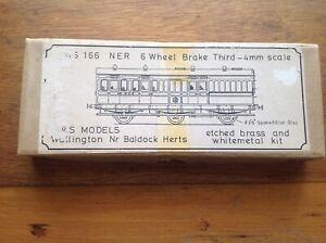 D&S Models 166 NER/LNER 6 Wheel Brake Third Etched Brass Finescale 4mm Coach Kit