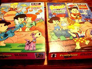 The Flintstone kids Puzzle 1987 Lot of two Vintage