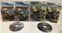 Wii 2 Game Lot ! Monster 4x4: Stunt Racer + Monster Jam Urban Assault ! CIB ! 🔥
