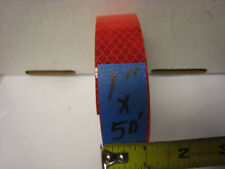 "BRIGHT RED  Reflective   Conspicuity  Tape 1"" x 50'"