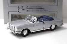 1:18 Maisto Mercedes 280SE Cabriolet silver DEALER NEW bei PREMIUM-MODELCARS
