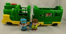 Fisher Price Little People Green Train Figures Lot Sounds Light DFY20 2016