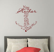Anchor Wall Decals Family Quote Vinyl Stickers Nautical Sea Anchor Bedroom FD234