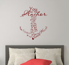 Quote Wall Decals Family Decal Anchor Vinyl Stickers Nautical Sea Bedroom FD234