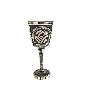 UNIQUE RARE Hopi Sterling Silver Handmade Miniature Goblet