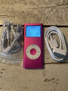 Apple iPod Nano 2nd Gen Pink 4GB REFURBISHED BUNDLE