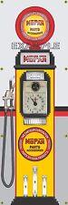 MOPAR CHRYSLER PARTS OLD TOKHEIM GAS PUMP BANNER DISPLAY SIGN MURAL ART 2' X 6'