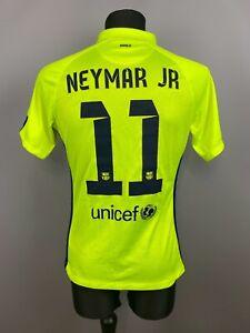 BARCELONA 2014 2015 NEYMAR THIRD SHIRT MATCH ISSUE FOOTBALL SOCCER JERSEY NIKE