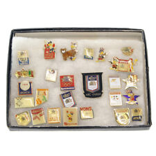 Vintage Assorted 26 Miscellaneous Olympic Sports Pins Collectors Badges (1980's)