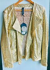 Giorgio Brato Perforated Mesh Moto Leather Jacket sz 44 / US sz 8 NWT $2000 MSRP