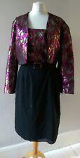 VINTAGE RETRO 80'S WOMENS AMAZING UNIQUE PARTY DISCO DRESS & JACKET  SIZE 10 12