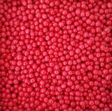 Red 4mm Edible Sugar Pearl Balls/Dragees - 50g