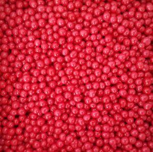 Red 4mm Edible Sugar Pearls/ Dragée Balls - 50g