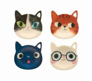 PLANET CAT TEA BAG HOLDER Kitten Melamine or Spoon Rest Trinket dish