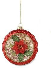 """Bethany Lowe """"Poinsettia Glass Ornament""""  (Style #1)"""