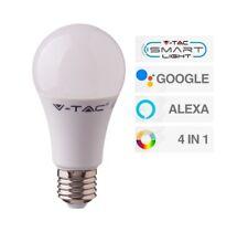 Bombilla LED Wifi E27 10W Bombilla A60 RGB+W 4in1 Regulable V-tac Smart VT-5119