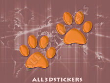 3D Sticker Decal Resin Domed Paws Adhesive Decal  Orange