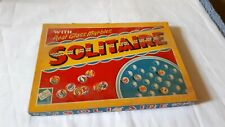 Vintage solitaire with real glass marbles Codeg Productions 1950/60s ?? - USED