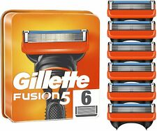 """Lot de 6 Lames """" GILETTE FUSION 5 """" Paquets Neufs Recharge Rasoir HOMME Gillette"""