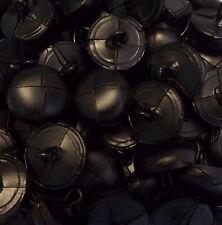 jacken und mantelverschluss schwarz mit steg messing