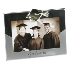 """Silver Plated Graduation Picture Photo Frame 4"""" x 6"""" Gift Idea Mortarboard"""