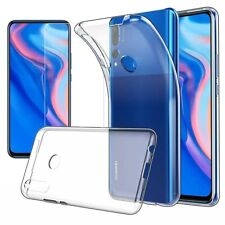 For Huawei P Smart Z Case Clear Slim Gel Cover & Glass Screen Protector