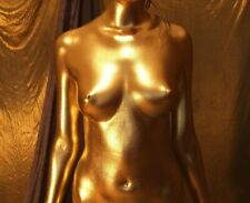 Ganzkörper Bodypainting Farbpulver Golden sehr Effektvoll, mit Anleitung 100 gr.