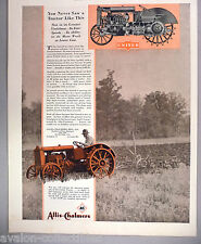 Allis-Chalmers United Tractor PRINT AD - 1930