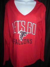 Atlanta Falcons Women's Fanatics Long Sleeve V Neck Shirt XL