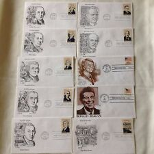 Set of 37 Presidents Unaddressed First Day Covers (FDC) dated 5/22/86 Chicago IL