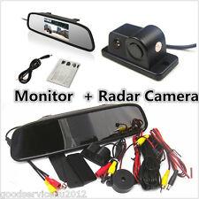 "Night Vision Radar CCD Car Reverse Camera & 4.3"" HD Rearview Mirror LCD Monitor"