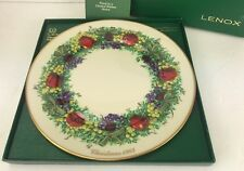 1983 Lenox Colonial Christmas Wreath Plate Maryland Third Colony Limited