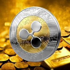 1Pcs Plated Ripple Coin XRP CRYPTO Commemorative Ripple XRP Collectors Coin