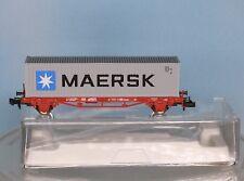 Fleischmann 931882 .3, Spur N, DB Cargo Containertragwagen  + Maersk Container