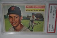 1956 Topps - #281 - Art Houtteman - PSA 8 - NM-MT