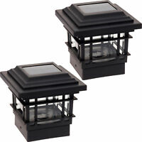 GreenLighting Classica High Lumen Deck Patio Fence Solar Post Cap Lights