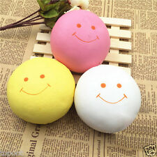 9.5CM Jumbo Smile Marshmallow Squishy Bread Keychain Bag Phone Charm Strap New