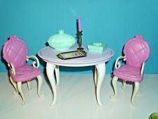 %***Barbie Möbel*Stühle*Tisch*Schale*Kerze*Kerzenständer*Tablett*Dose***%