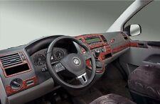 Cockpitdekor für VW T5 ab 2010 Facelift Modelle Wurzelholzdesign 38 tlg.