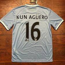 2013/14 Manchester City Home Jersey  #16 Kun Aguero Medium  Nike BNWT
