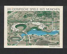 Germany -Souvenir Sheet  1972 Munich Olympics - 4 Stamp Sheet - Scott #B489