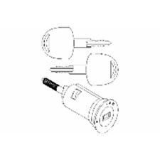 Schließzylinder Zündschloß - Topran 205 654