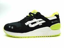 ASICS KIDS GEL LYTE III GS BLACK WHITE YOUTH SHOES SIZE 6.5