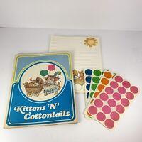 Vtg Current Kittens 'N Cottontails Stationery Set - 12 Mailing Sheets Complete