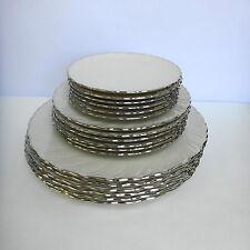 Lenox  Weatherly 18 pc Set 6 Dinner Salad Bread Butter Plates White Platinum