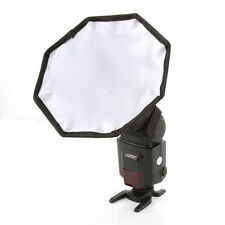 "8"" 20cm Foldable Octagon Flash Softbox Diffuser Photo Studio Universal Speedlite"