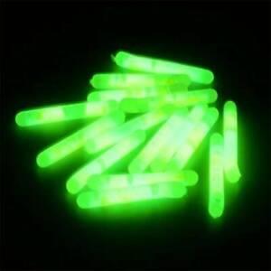 15Pcs Fishing Float Fluorescent Lightstick Light Night Rod Glow in Dark Stick CA
