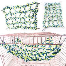 Pet Bird Parrot Parakeet Cage Rope Net Hammock Colorful Swing Toys Hanging Perch